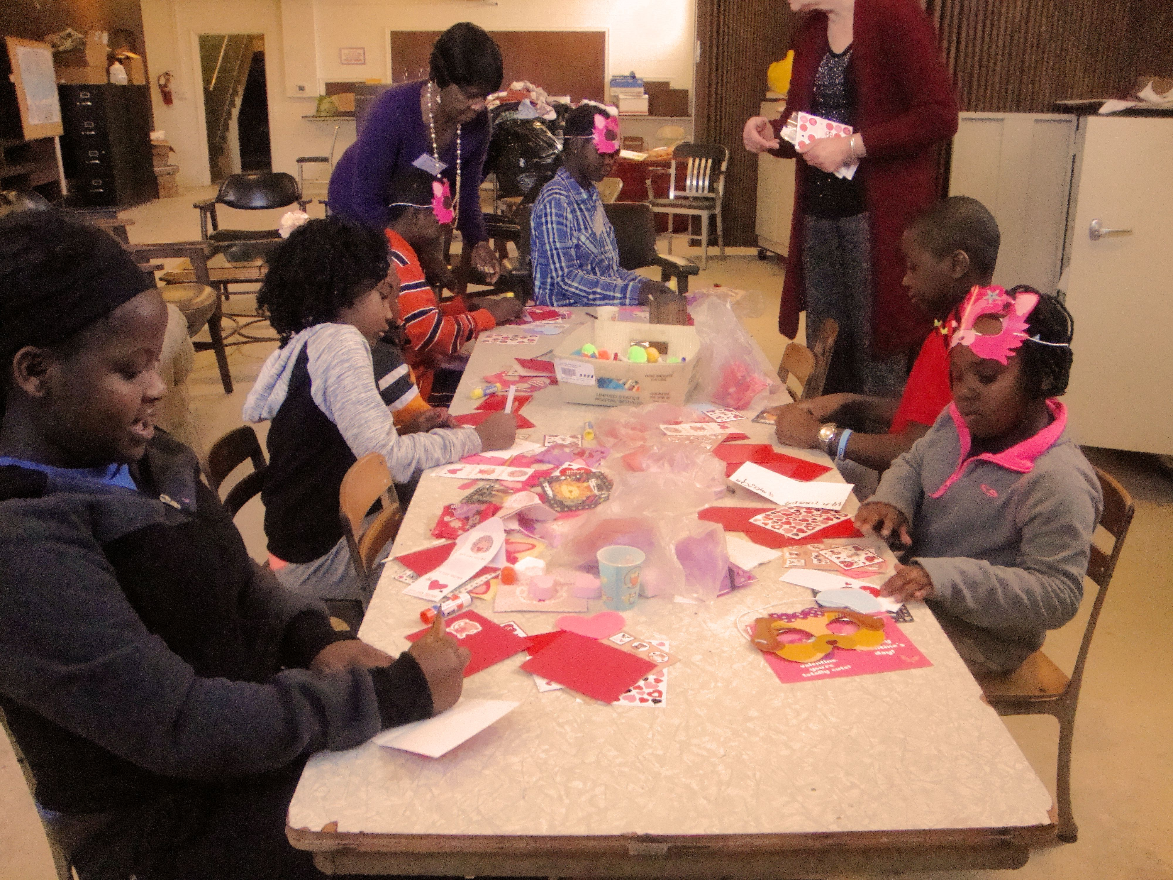 2017 children make valentines