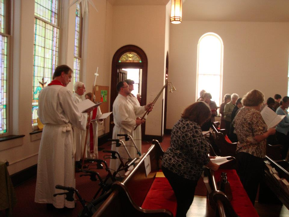 Bishop William Gafkjen Indiana Kentucky Synod ELCA, joins the October 15 procession