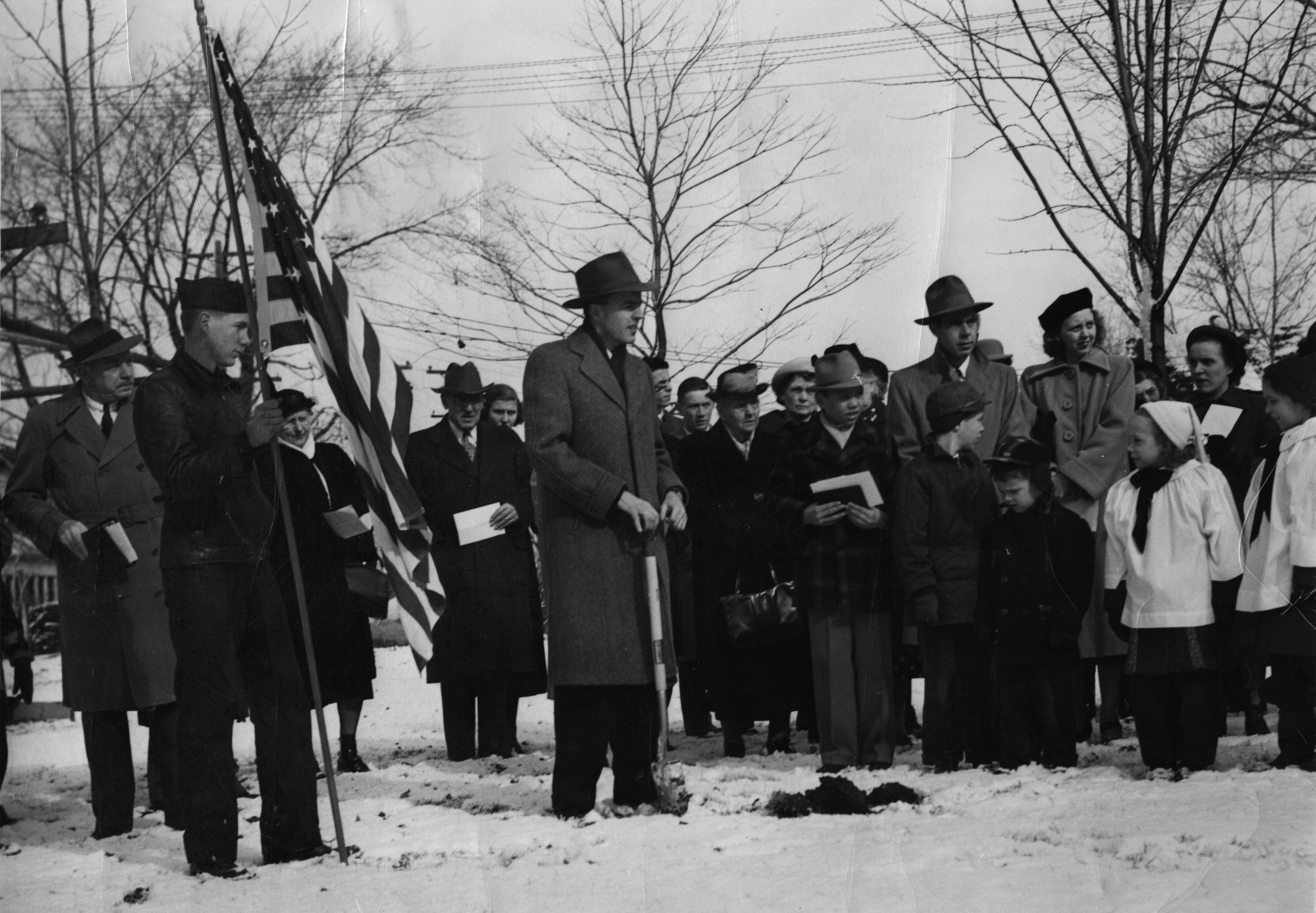 Salem Parish Hall 1950 Grounbreaking